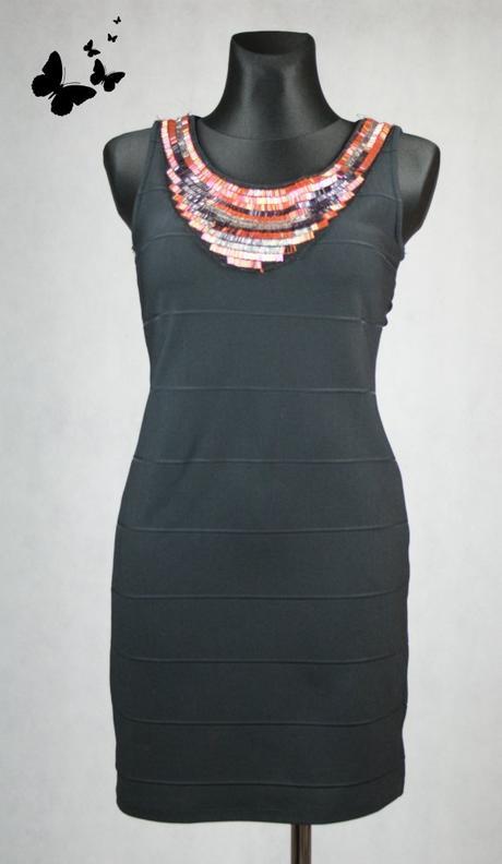 Atmosphere černé šaty Řecký styl vel 40, 40