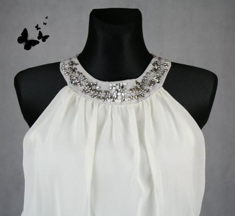Atmosphere světlé šaty řecký styl vel 40, 40