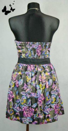 Barevné společenské šaty vel 40, 40