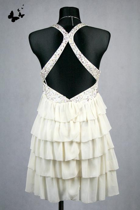 Béžové zajímavě řešené šaty vel 38-40, 38