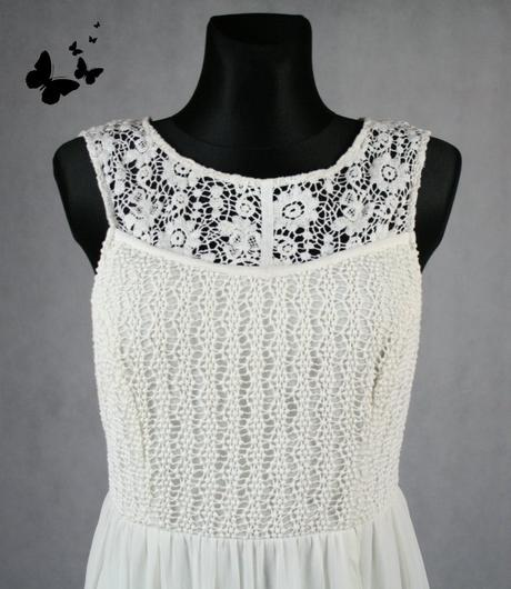 Bílé krajkové šaty SOUTH vel 44, 44