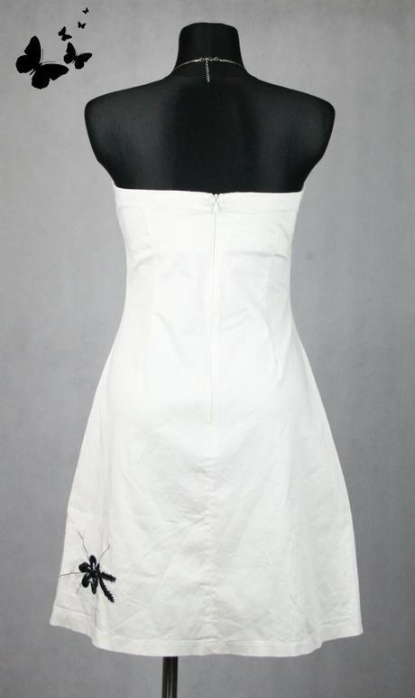Bílé šaty s černým vyšíváním vel 36-38, 38