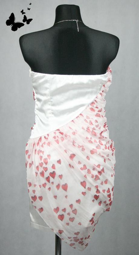Bílé šaty se srdíčky vel 40, 40