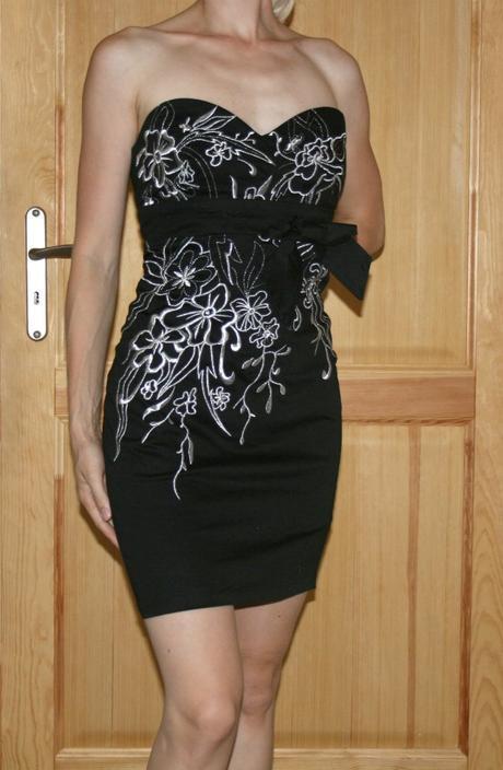 Černé Bay společenské šaty vel 38-40, 38