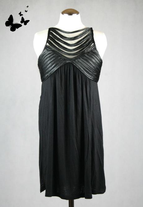 Černé jednoduché společenské šaty vel 38 -40, 38
