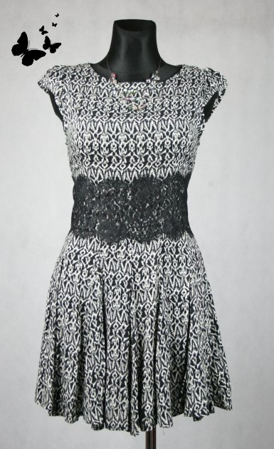 Černo bílé šaty AX Paris vel 40, 40