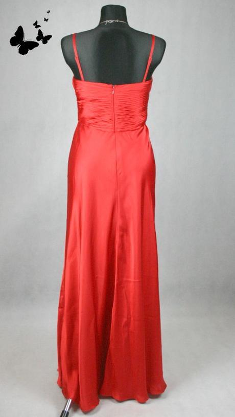Début společenské červené dlouhé šaty vel 38-40, 40