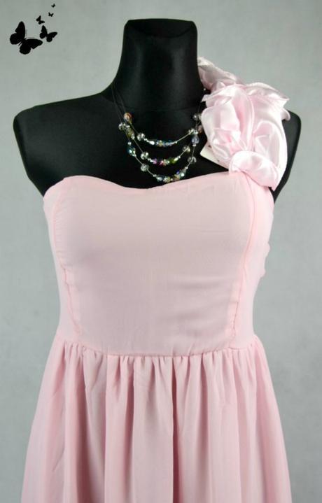 Dlouhé růžové společenské šaty vel 40, 40