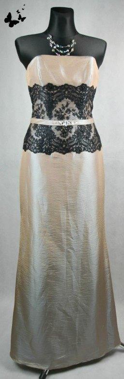 Dlouhé slavnostní šaty s krajkou vel 38-40, 38