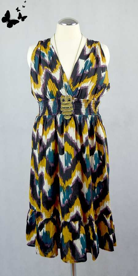 E-vie barevné šaty vel 36-38, 36