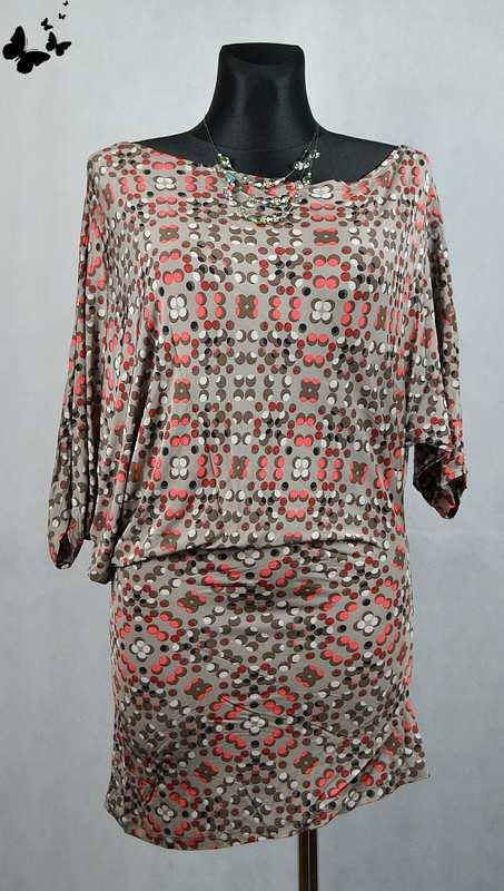 c7c81cf2411f Elastické puntíkované letní šaty vel 36-38