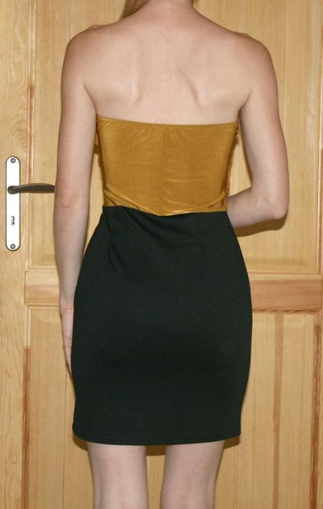 Elegantní dvojbarevné šaty vel 40, 40