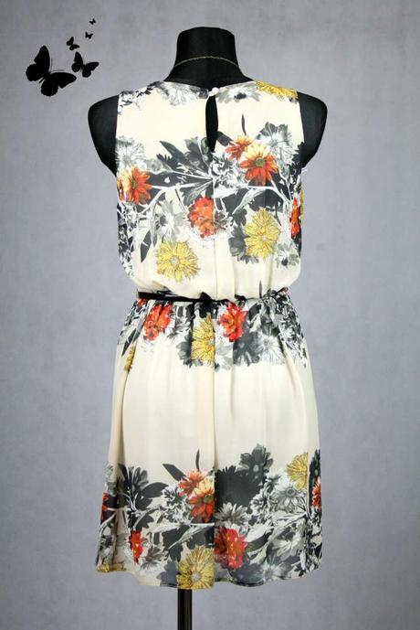Elegantní květované šaty vel 36-38, 36