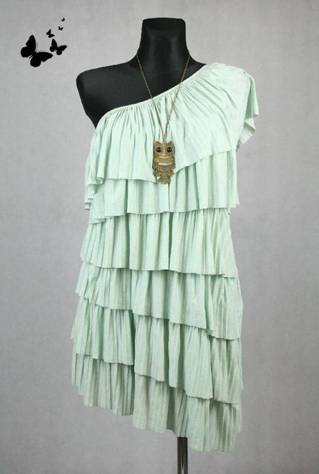 Elegantní šaty na jedno rameno vel 42-44, 42