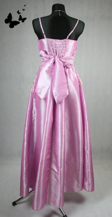 Fialkové dlouhé šaty s krajkou vel 44, 44