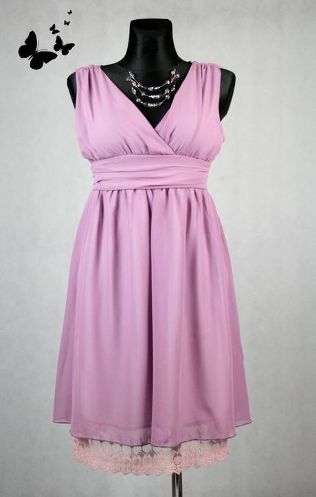 Fialkové společenské šaty velikost 40-42, 40