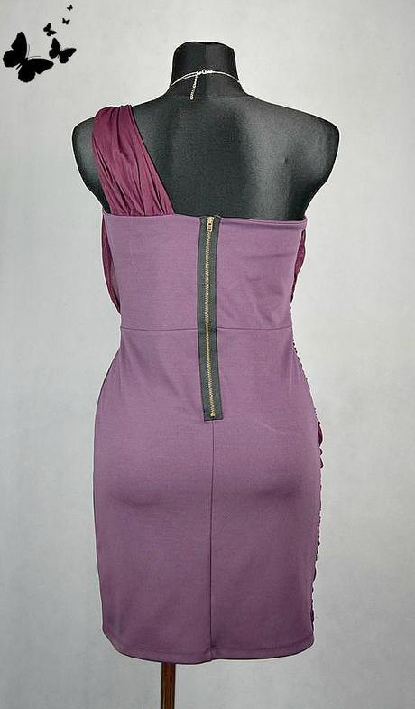 Fialkové Tube šaty na jedno rameno vel 40, 40