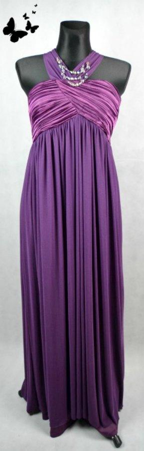 Fialové dlouhé Ever-Pretty šaty vel 46, 46