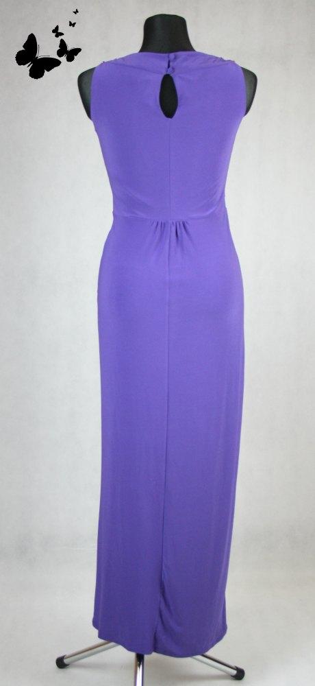 Fialové dlouhé šaty řecký styl vel 38, 38
