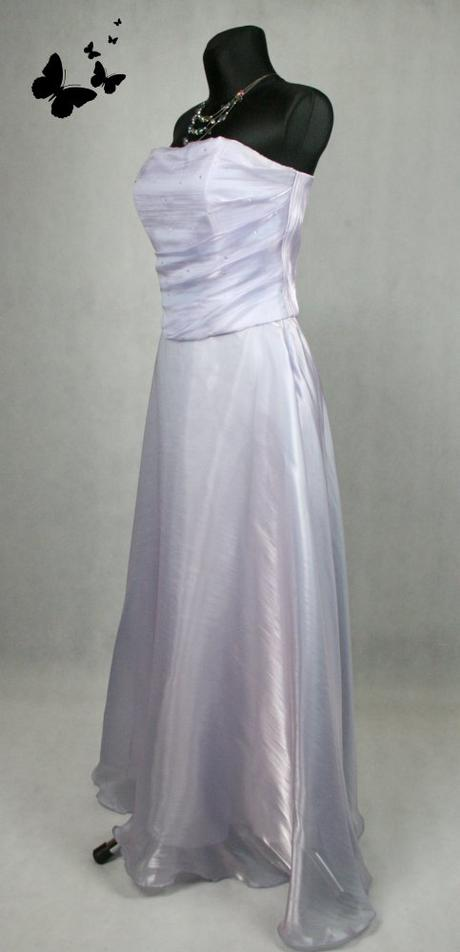 Fialové dlouhé společenské šaty vel 36, 36