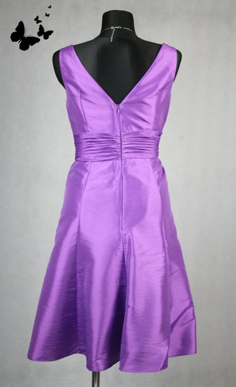 Fialové společenské koktejlové šaty vel 44, 44