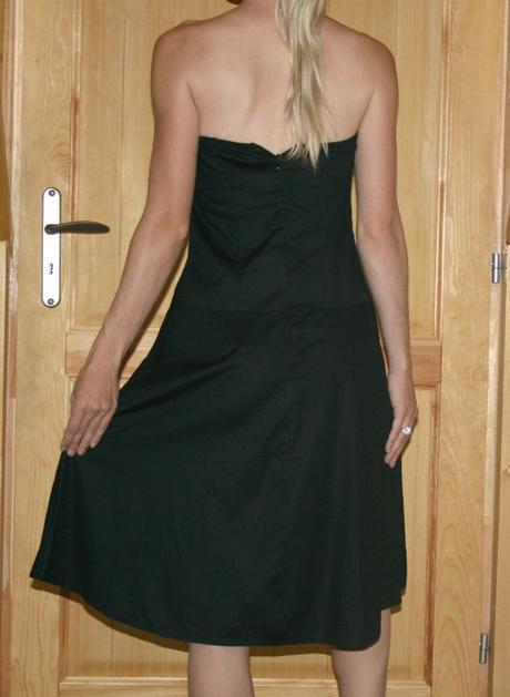 Jane Norman koktejlové šaty se stužkou vel 38-40, 38