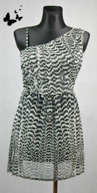 Jarní / letní šaty tygrované vel 42-44, 42