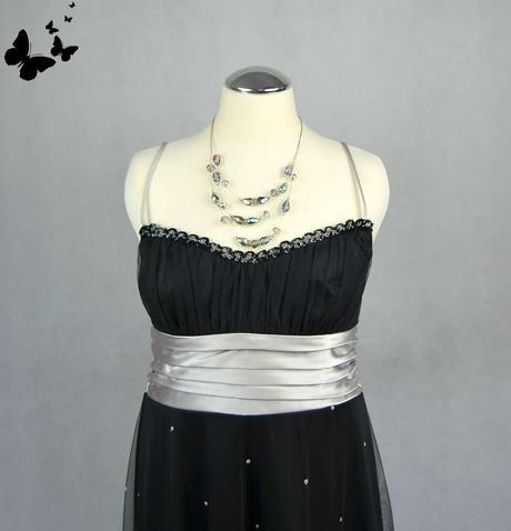 Koktejlové černé šaty na ramínka vel 38, 38
