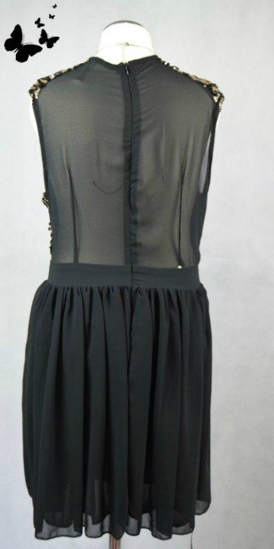 Koktejlové šaty s flitry vel 42, 42