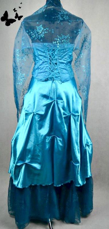 Korzetové dvoudílné plesové šaty vel 38, 38