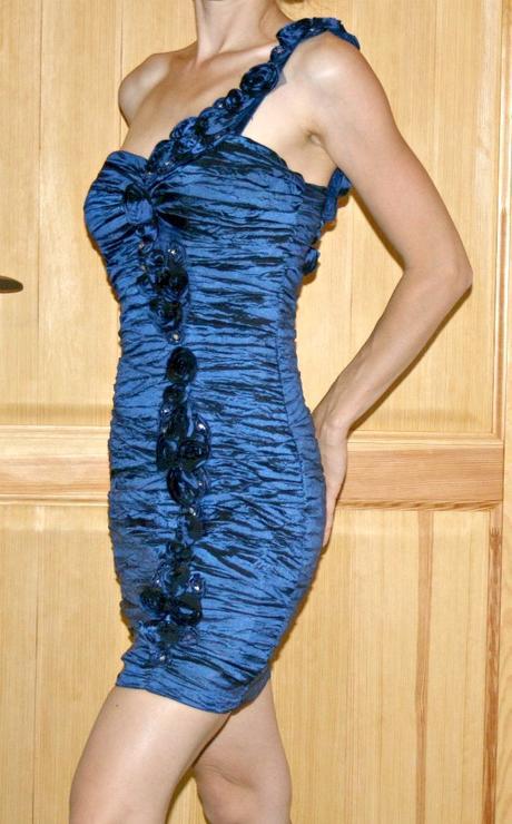 Královsky modré šaty vel 36, 36