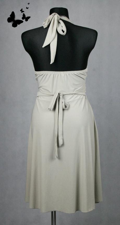 Krátké šaty se zavazováním kolem krku vel 38-40, 38
