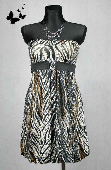 Krátké tygrované elastické šaty vel 38-40, 40