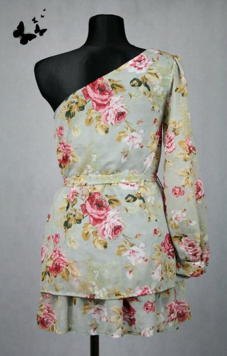 Květovaná tunika / krátké šaty vel 36 -38, 38