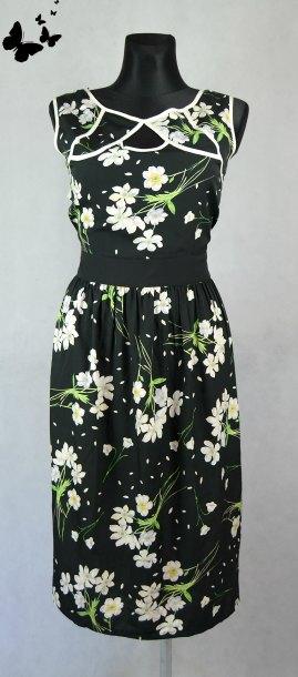 Květované lehké šaty vel 46, 46