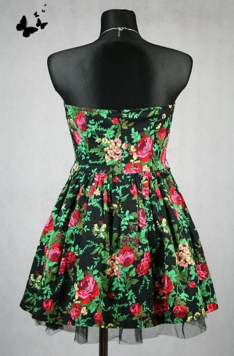Květované šaty s bohatou sukní vel 40, 40