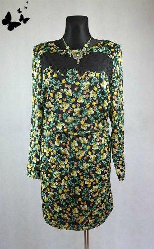 Květované šaty s rukávem Marks & Spencer vel 46, 46