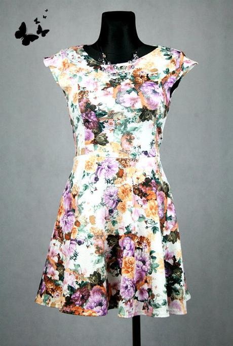 Kytičkované letní šaty vel. 42-44, 42