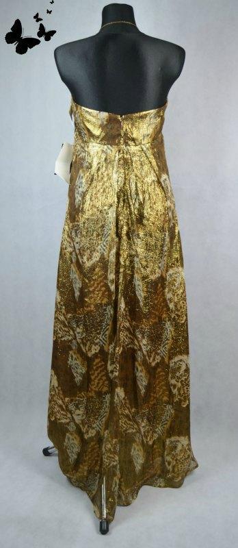 Lesklé zlaté šaty vel 42, 42