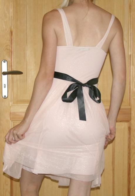 Lososové šaty Jane Norman vel 34-36, 36