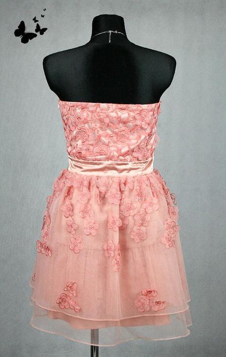 43e7b8f00722 Lososové společenské šaty vel 40