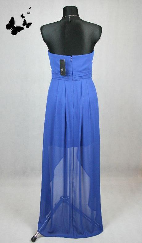 Modré asymetrické společenské šaty Jane Norman, 40