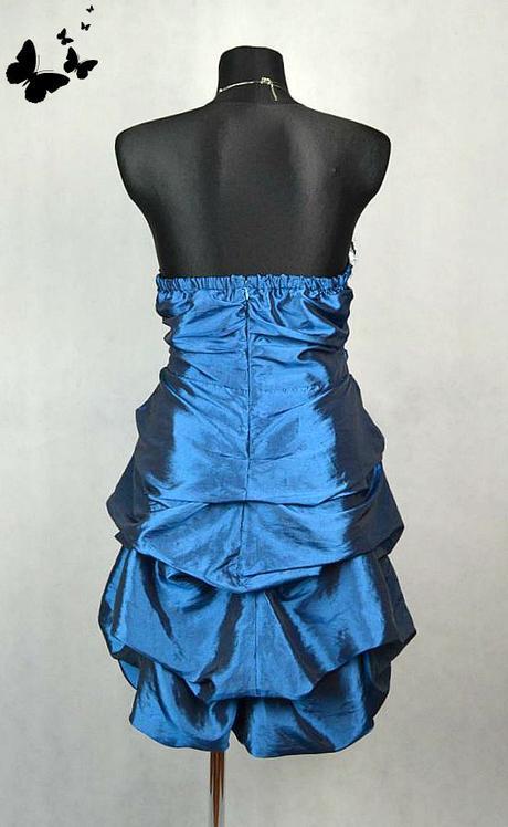 Modré balónové šaty vel 46, 46