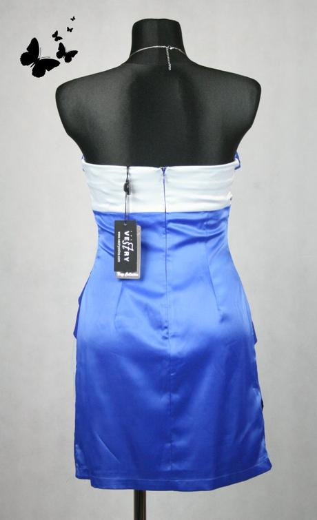 Modré krátké společenské šaty vel 40, 40