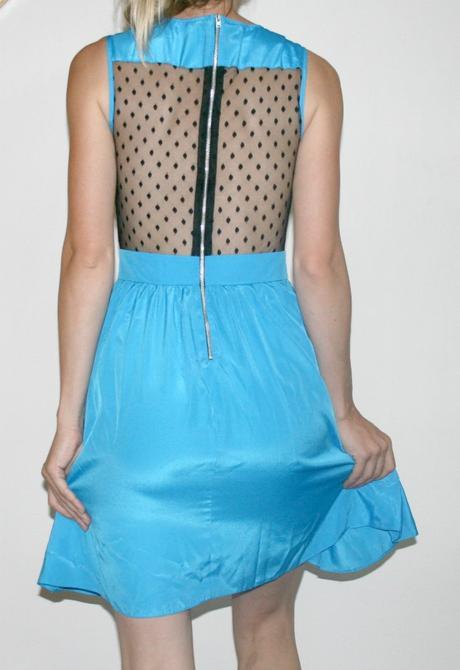 Modré Společenské šaty s černou krajkou vel 36 , 36