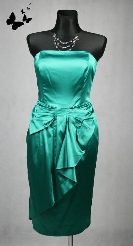 Oasis zelené společenské šaty vel 40, 40
