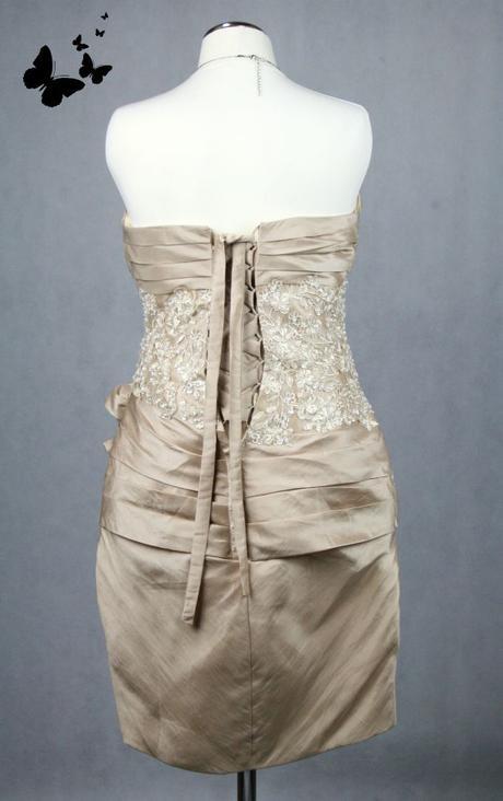 Okrové společenské šaty vel 36-38, 36
