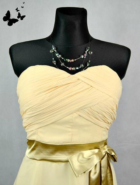 Pastelově žluté koktejlové šaty vel 44-46, 44