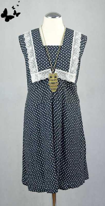 Retro námořnické šaty vel L 44, 44
