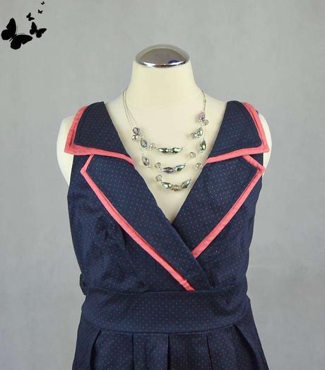 Retro puntíkované šaty vel 40, 40